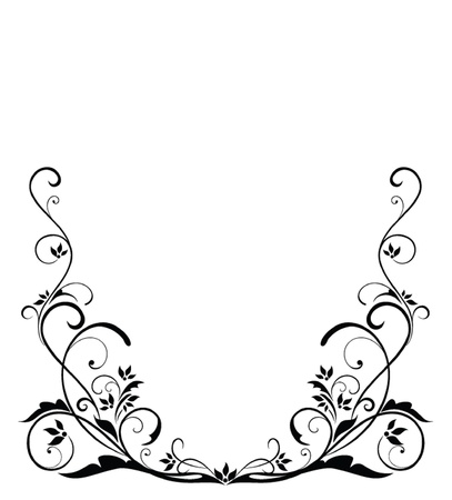 Black vintage border Vector