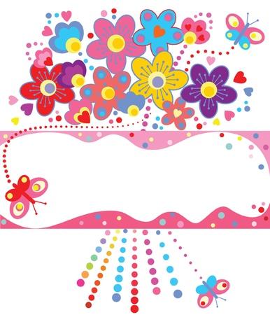cute border: Greeting card