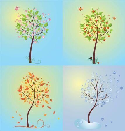 Seasonal tree Vector