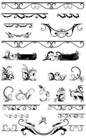 装飾的な境界線やデザイン要素