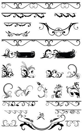 Decorative border and design elements Vector