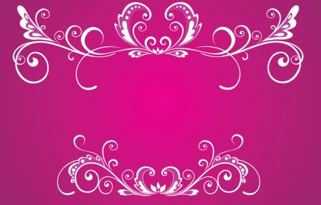 Decorative white frame Vector