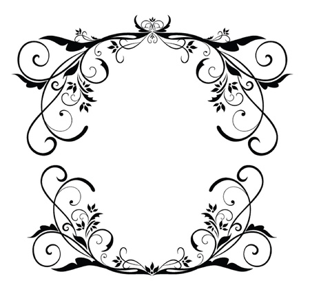 ornament menu: Vintage black frame