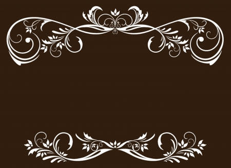 Vintage white frame Stock Vector - 19034636