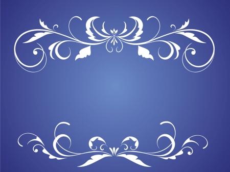 結婚式の青いカード  イラスト・ベクター素材