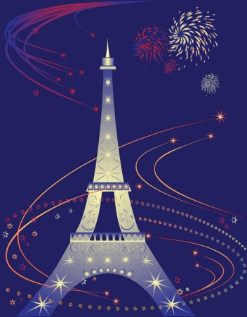 Eiffel Tower, vector illustration. See my gallery for more Stock Vector - 19034817