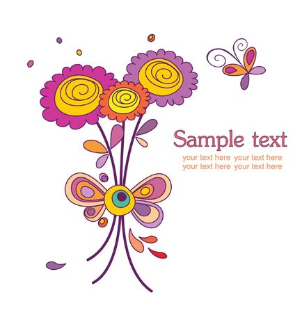 Cheerful bouquet Vector