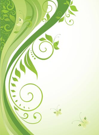 graphic design background: Green background Illustration