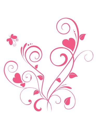pink heart: Valentine tree