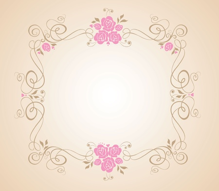 Wedding floral frame Vector