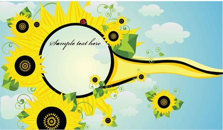 Frame with sunflowers Stock Vector - 19034835