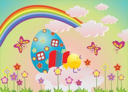 religion  herb: Funny Easter illustration