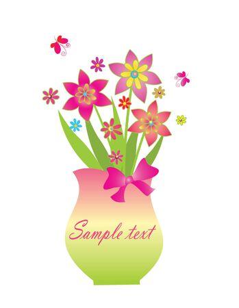Bouquet in vase Stock Vector - 19034764