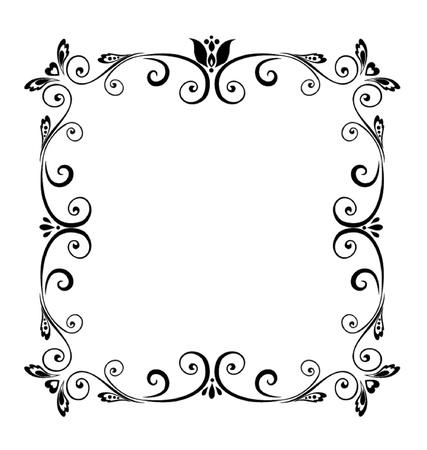 bordures fleurs: Cadre d�coratif