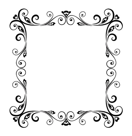 floral scroll: Decorative frame