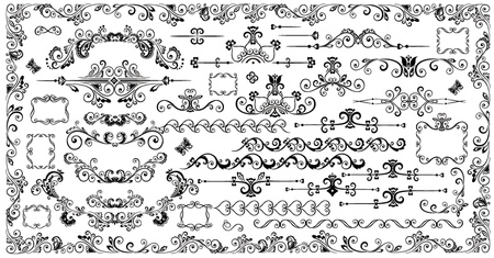 Decorative vintage elements Stock Vector - 19034849