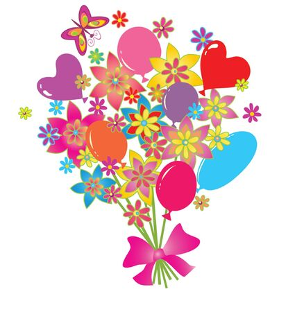 Greeting bouquet Vector