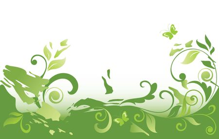 Grunge green background Stock Vector - 19034659