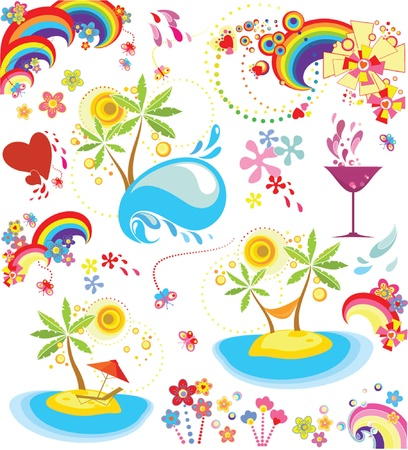 Set of summer holiday icon Stock Vector - 19034834