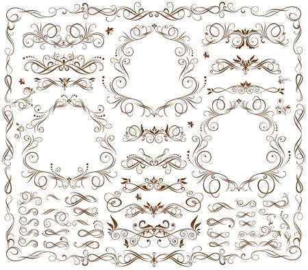 ビンテージ フレームやデザイン要素  イラスト・ベクター素材