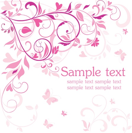 Beautiful pink card Vector