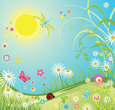 Summer colorful card Vector