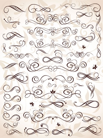 filigree background: Elements for design Illustration