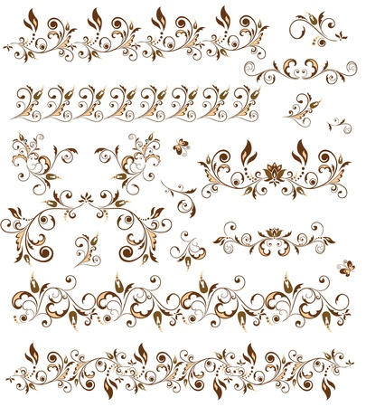 ornamental scroll: Decorative borders for design