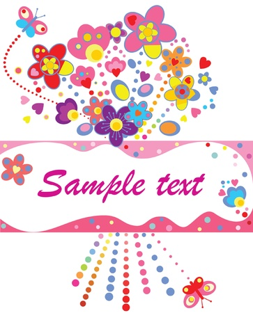 Funny greeting card Vector