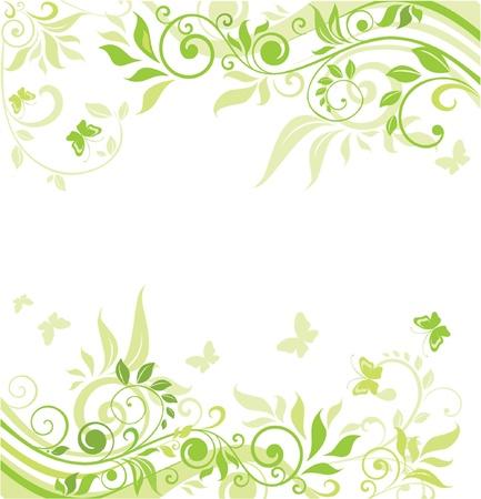 緑の春のバナー  イラスト・ベクター素材