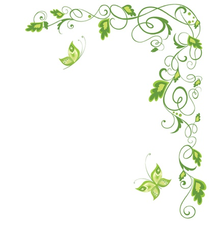 Green vintage border Vector