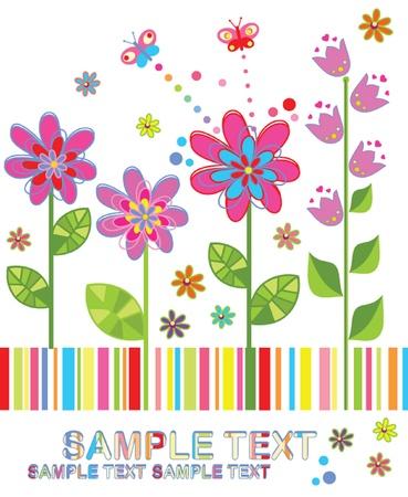 deseos: Divertida tarjeta de felicitaci�n Vectores