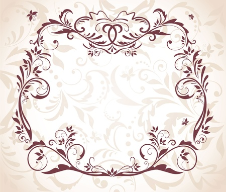 birthday wishes: Wedding floral frame