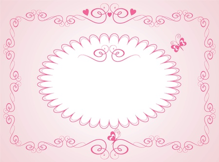 Arrival pink card Vector