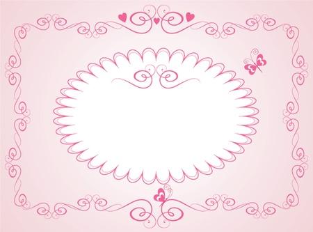 rose: Arrival pink card