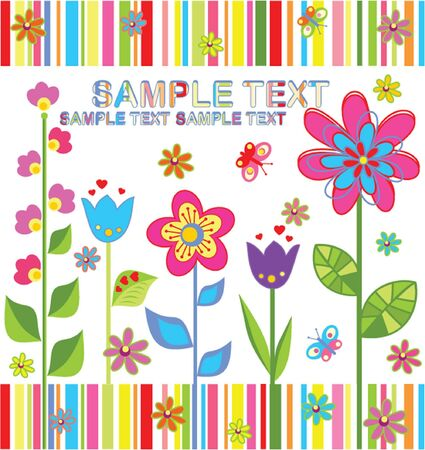 Funny summer card Stock Vector - 19034661