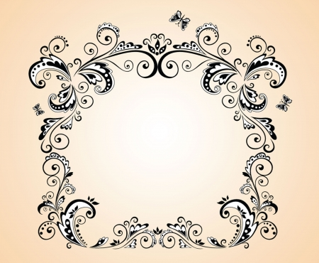 Greeting frame Vector