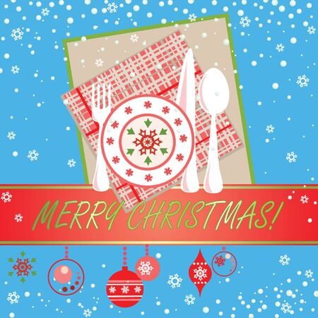 Greeting xmas card Stock Vector - 19034997