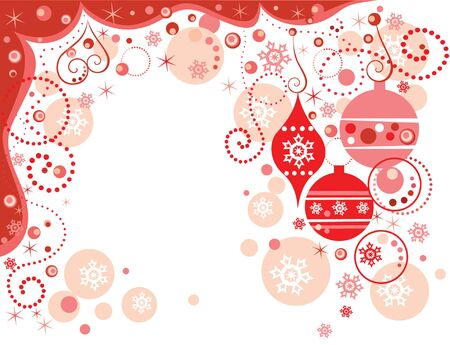 Red holiday border Stock Vector - 19034960
