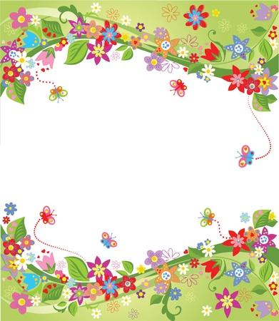 birthday flowers: Spring achtergrond