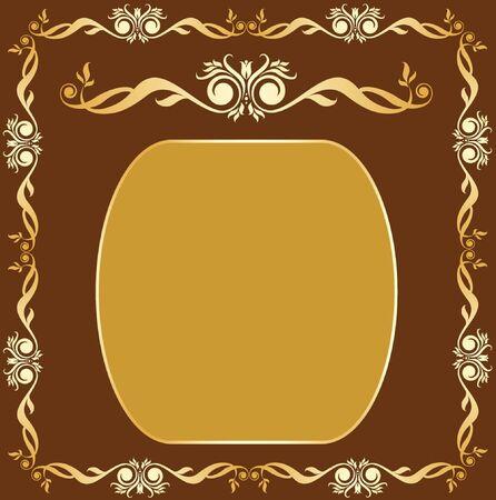 vintage gold frame:  Vintage gold frame
