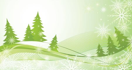 Winter green background Vector