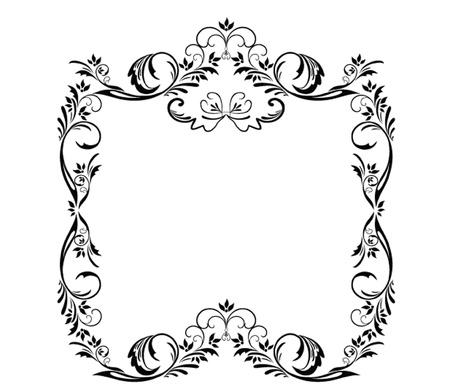 Decorative black frame Stock Vector - 19034874