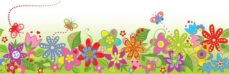 cute border: Floral seamless background