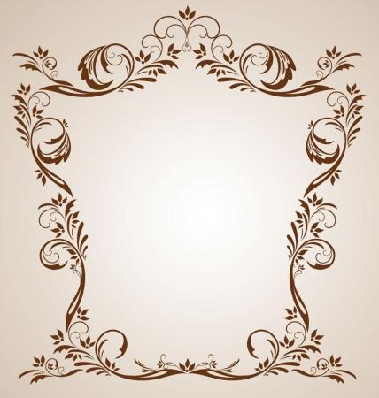 Vintage brown frame Stock Vector - 19034896