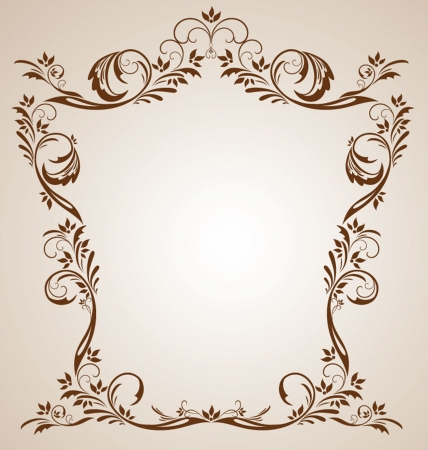 Vintage brown frame