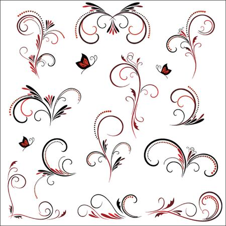 Vintage pattern for design, floral silhouette Stock Vector - 19034893
