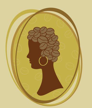 Coffee concept woman  Stock Vector - 19034912