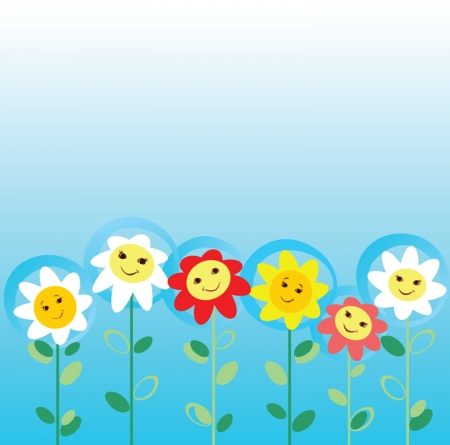 Flowers field Vector