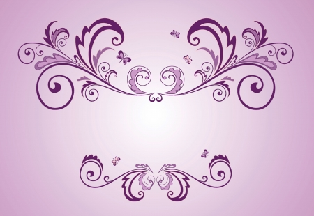 Lilac frame Vector